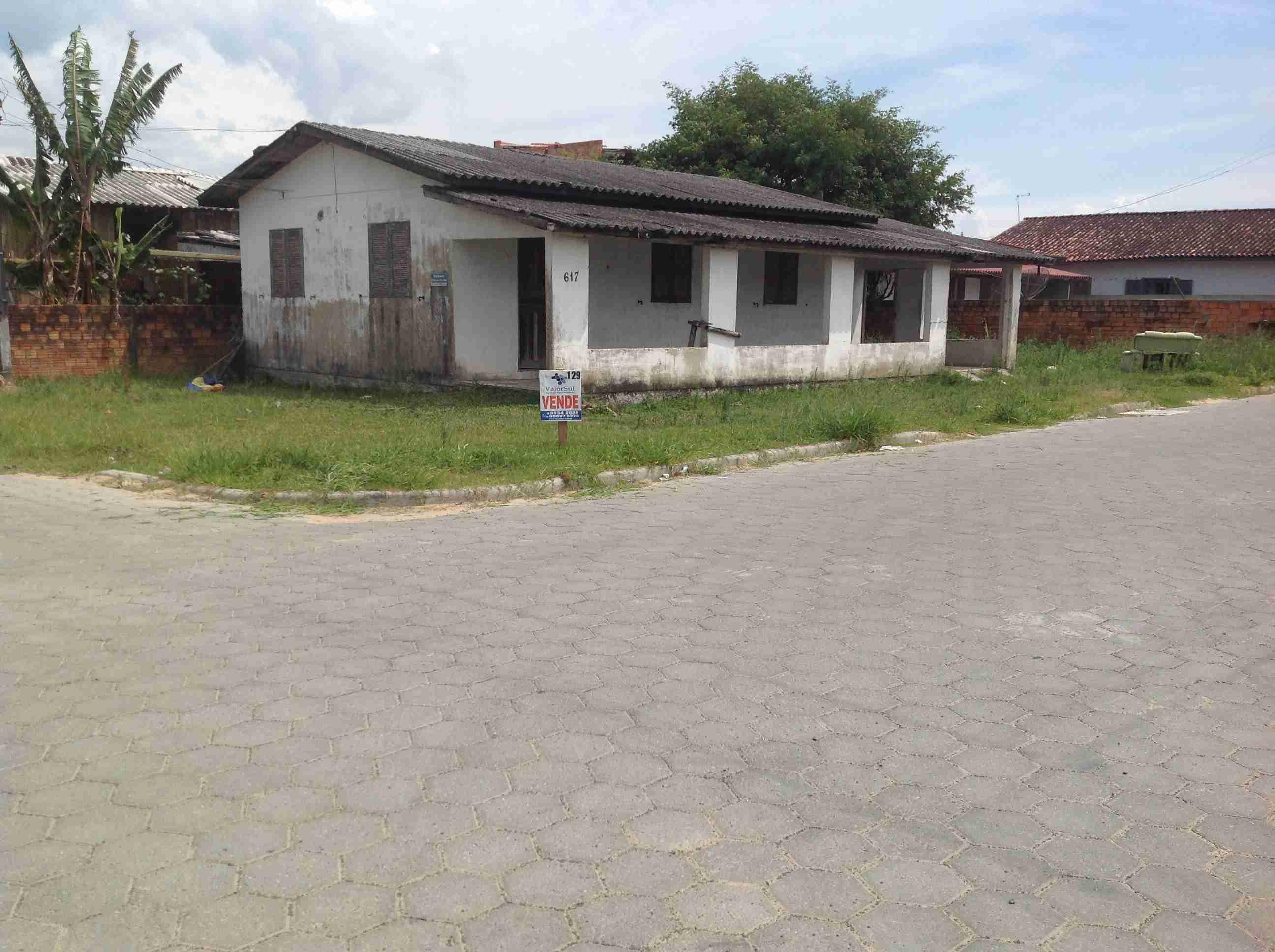 Imóvel (129)Casa 8×12,3 dormitórios,sala,cozinha,banheiro,área de serviço,garagem,lote 12×25